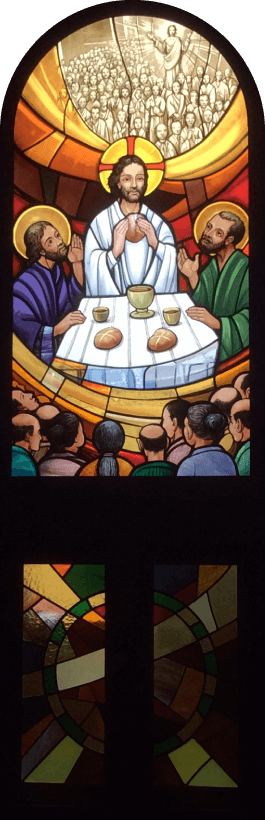 Photo: Part of Stained glass at Shimabara Catholic Church